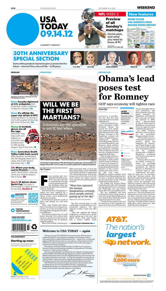 USA Today newspaper redesign | iNewsDesign