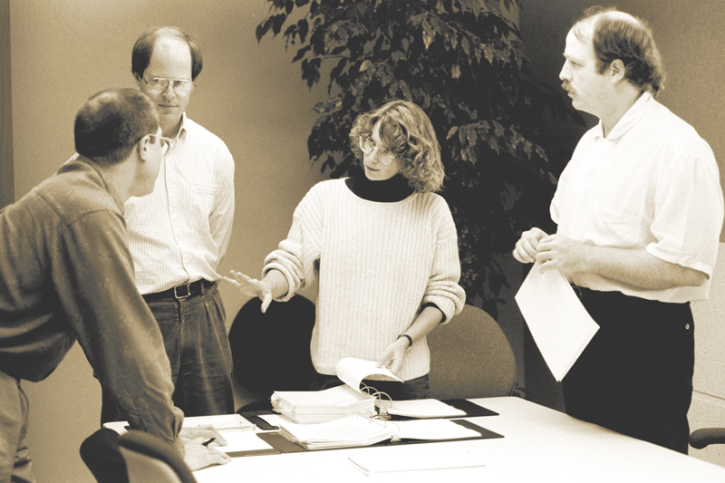 Members of the Originals team, from left: Jim Wasco, Robert Slimbach, Carol Twombly, and Fred Brady.