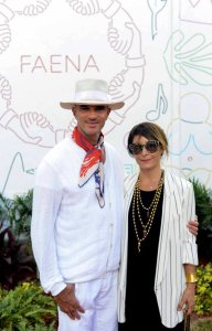 Alan Faena, the center's founder, and Ximena Caminos, its executive director, who are currently based in Miami. Credit Casey Kelbaugh for The New York Times